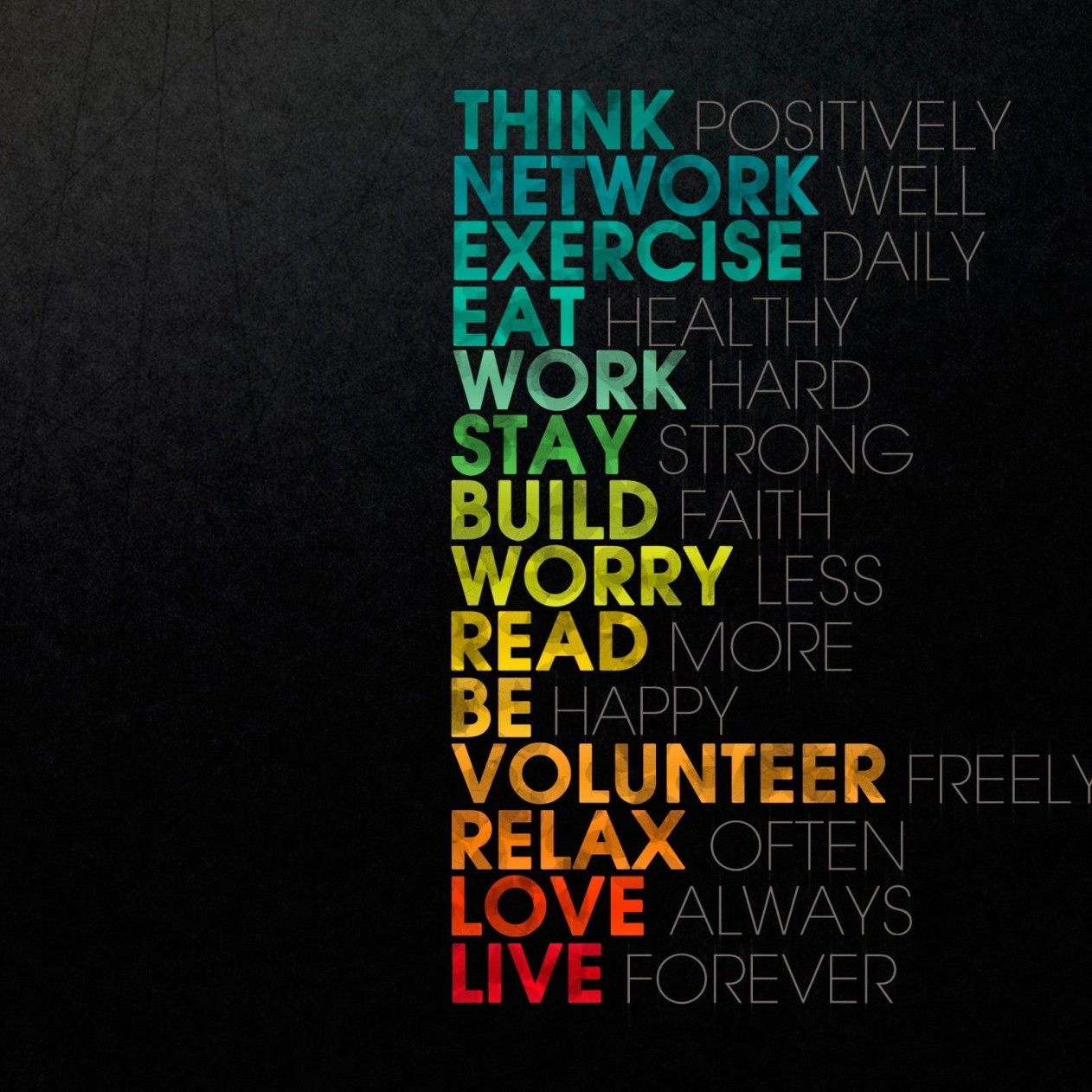 Think Positively Wallpaper for Apple iPad mini