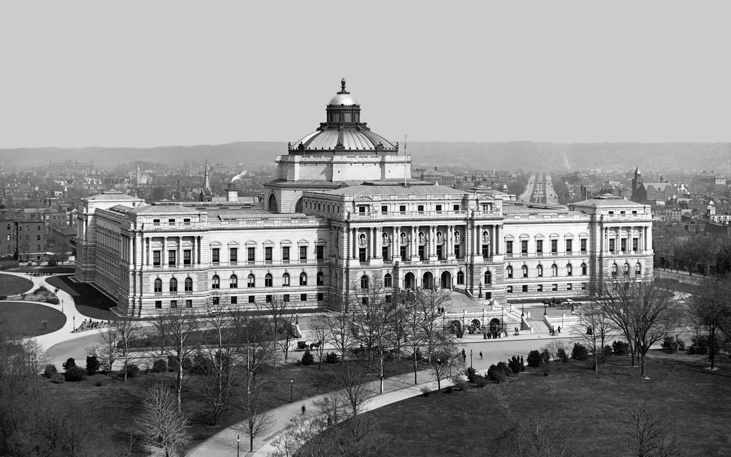 Thomas Jefferson Building, year 1902, Washington, D.C. Wallpaper for Desktop 1440x900