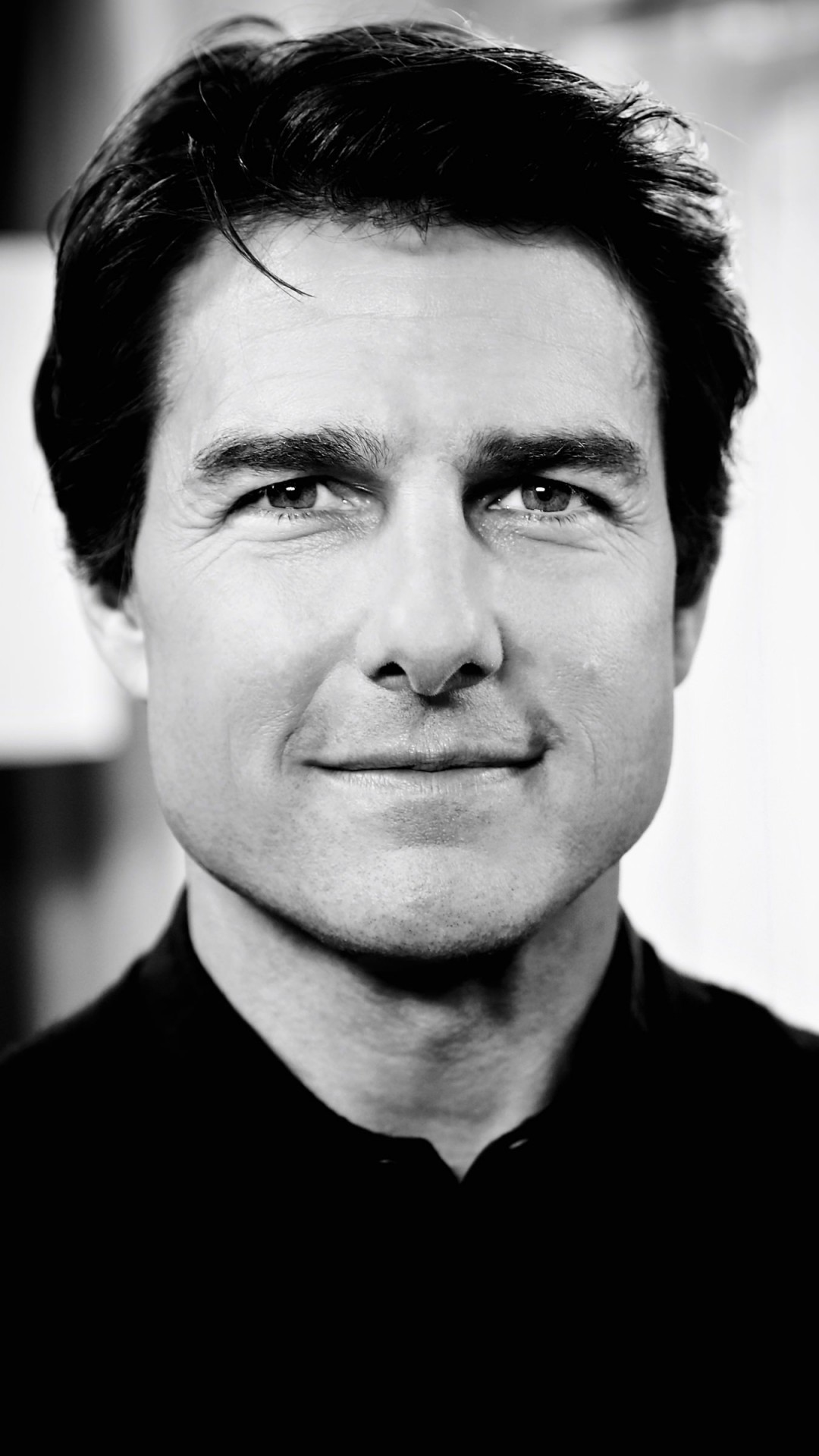 Tom Cruise Black & White Portrait Wallpaper for HTC One