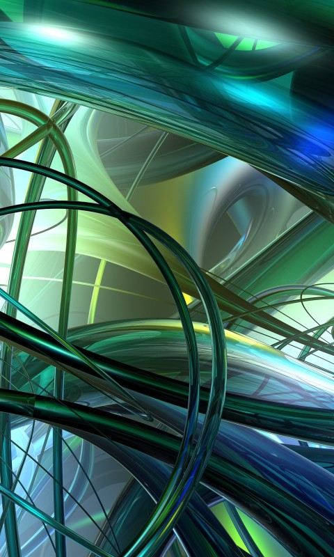 Translucide Pipes Wallpaper for HTC Desire HD