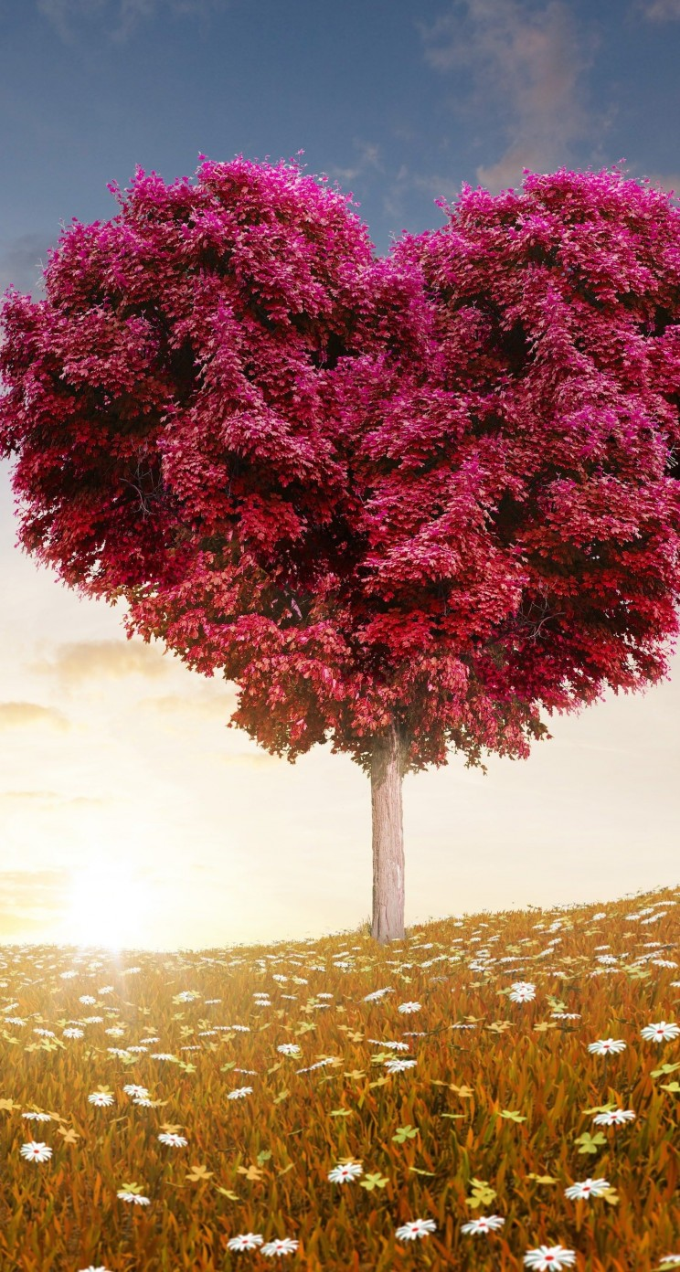 Tree Of Love Wallpaper for Apple iPhone 5 / 5s