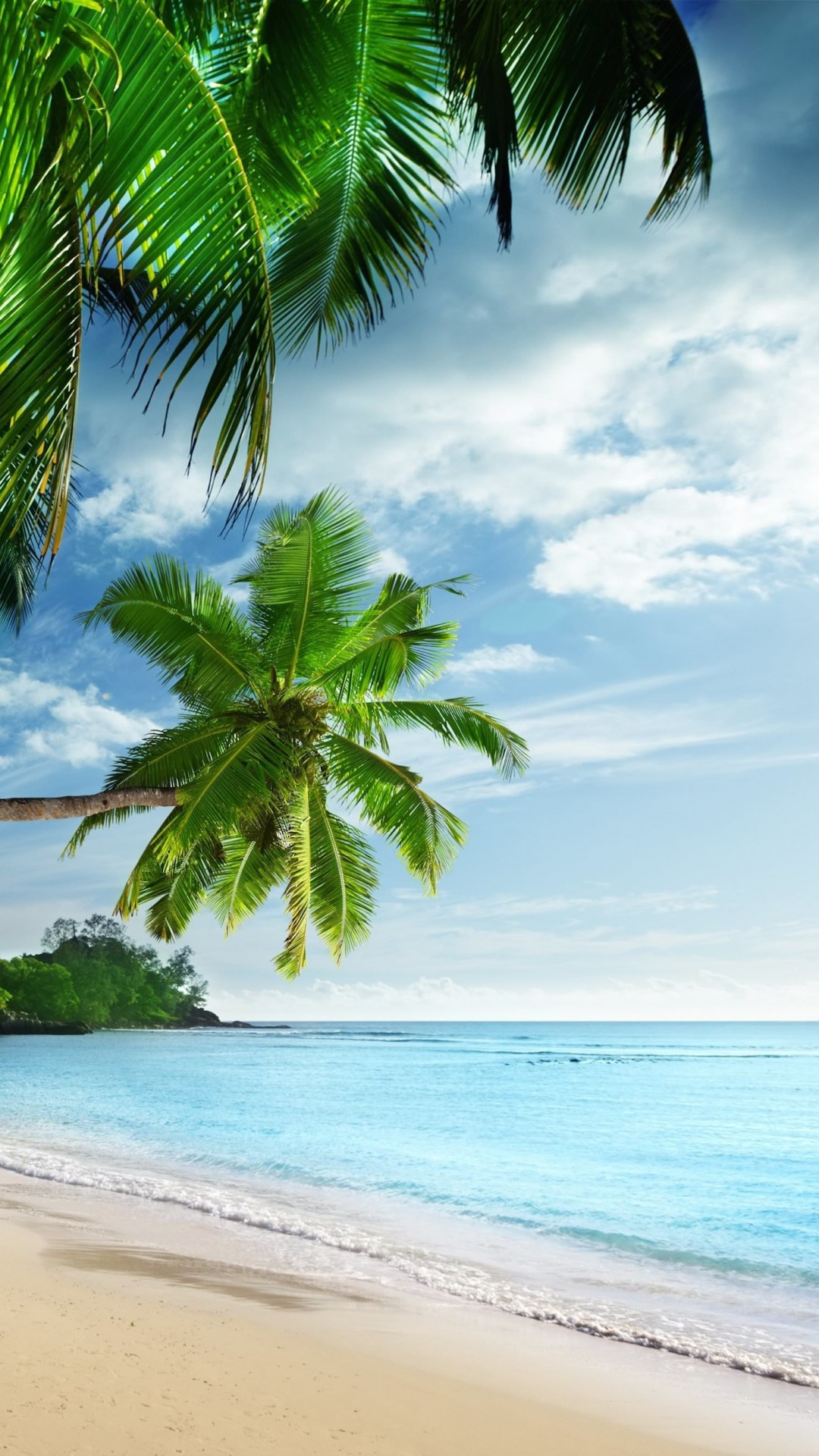 Tropical Paradise Beach Wallpaper for SAMSUNG Galaxy Note 3