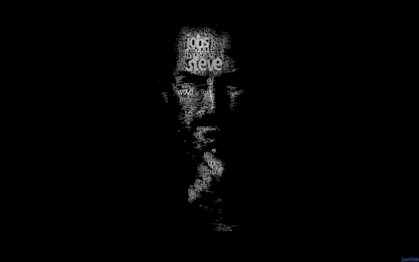 Typeface Portrait of Steve Jobs Wallpaper for Desktop 1440x900