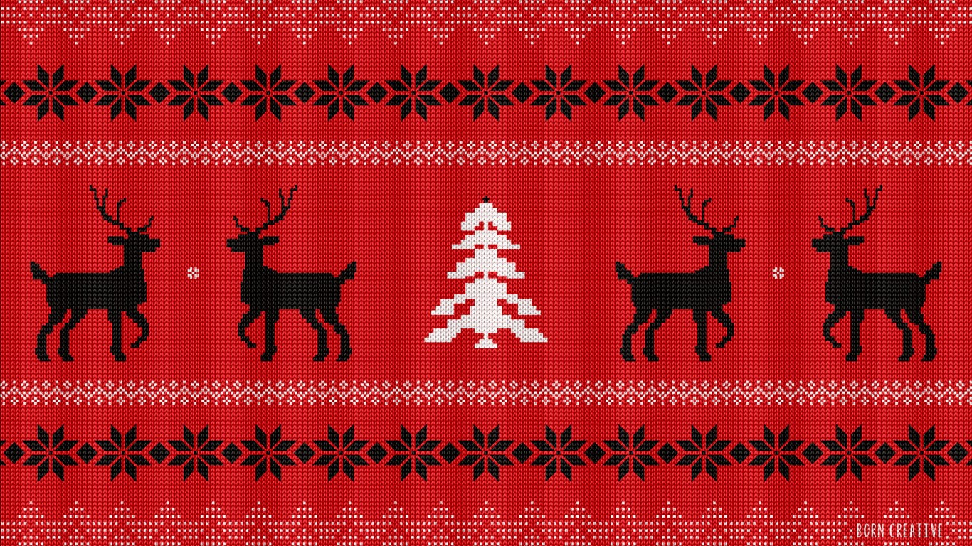 Ugly Christmas Sweater Wallpaper for Desktop 1366x768