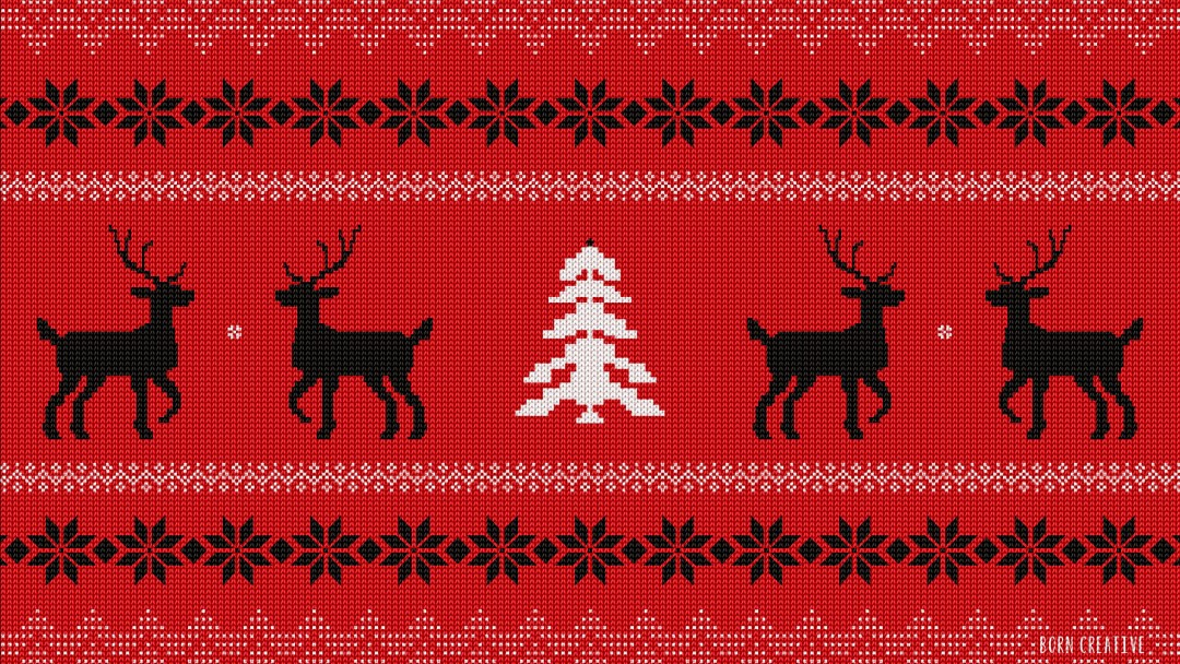 Ugly Christmas Sweater Wallpaper for Social Media Google Plus Cover