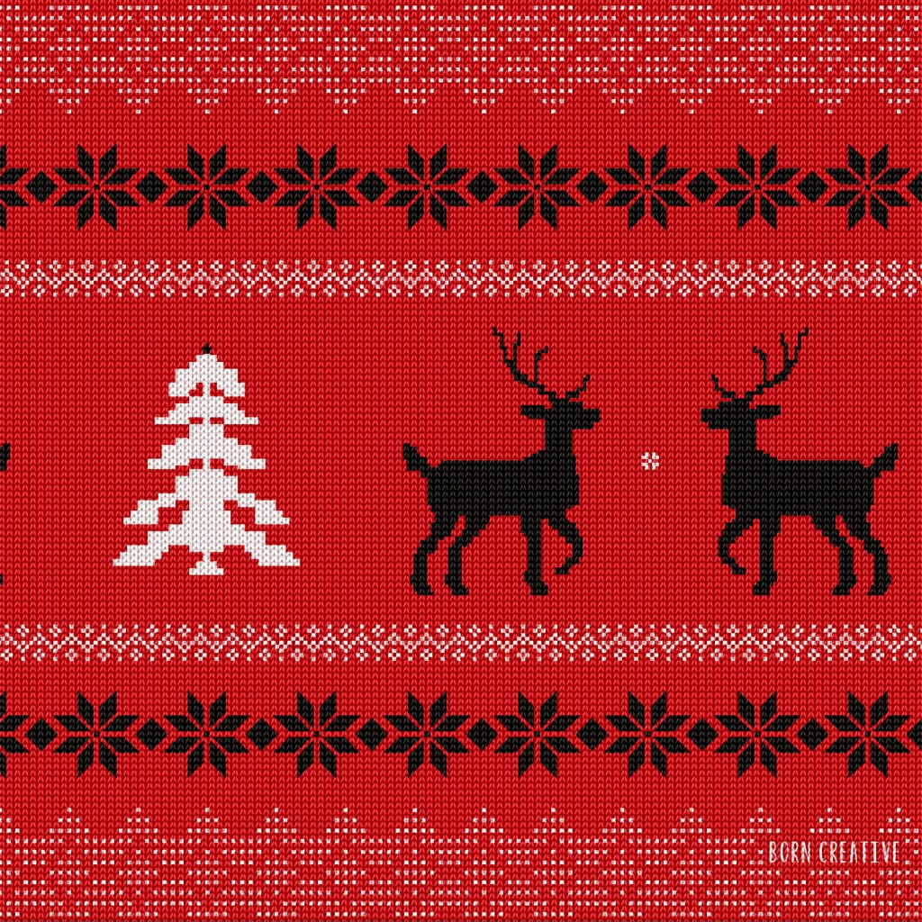 Ugly Christmas Sweater Wallpaper for Apple iPad 2