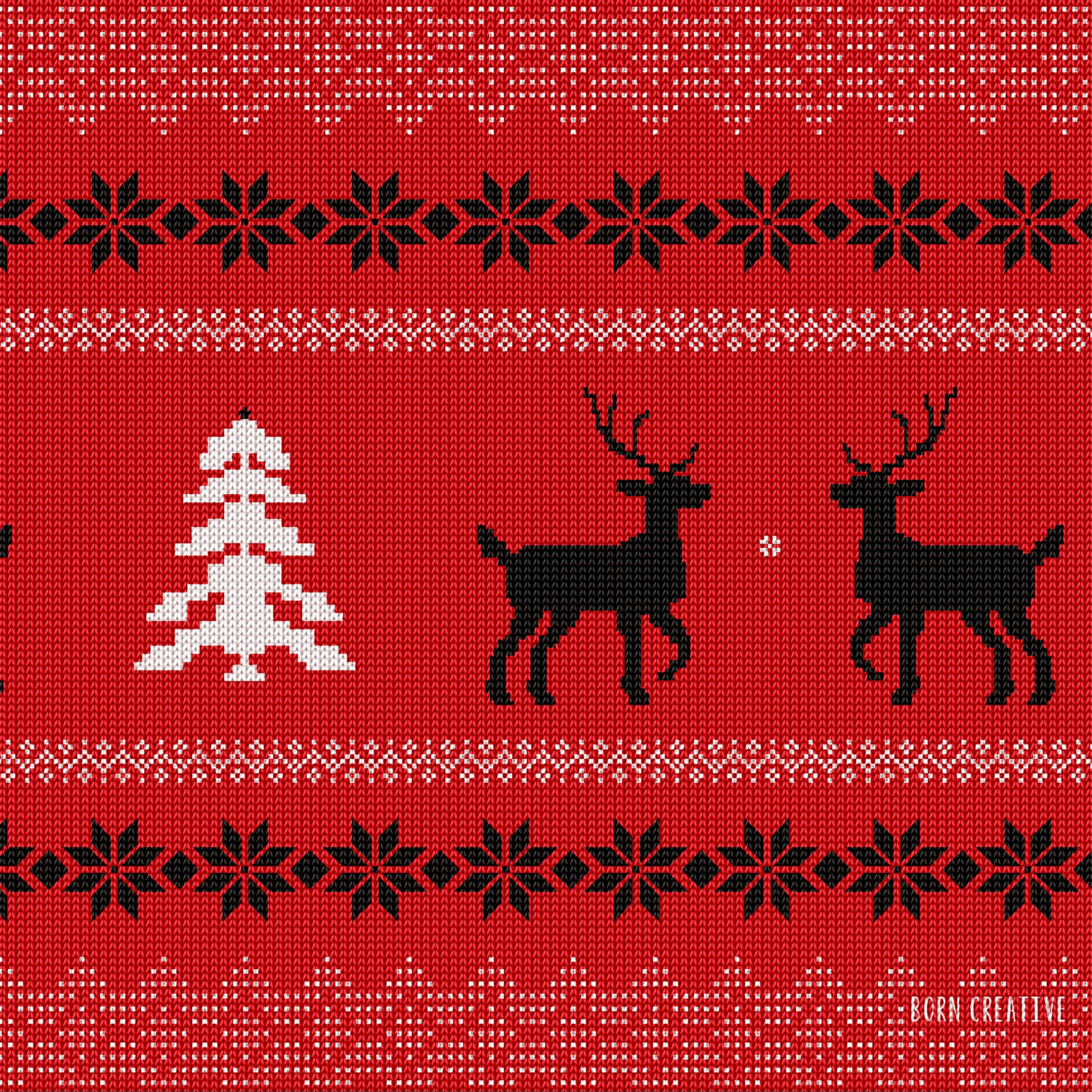 Ugly Christmas Sweater Wallpaper for Apple iPad 4