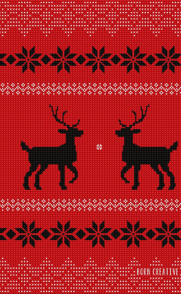 Ugly Christmas Sweater Wallpaper for Apple iPhone 4 / 4s