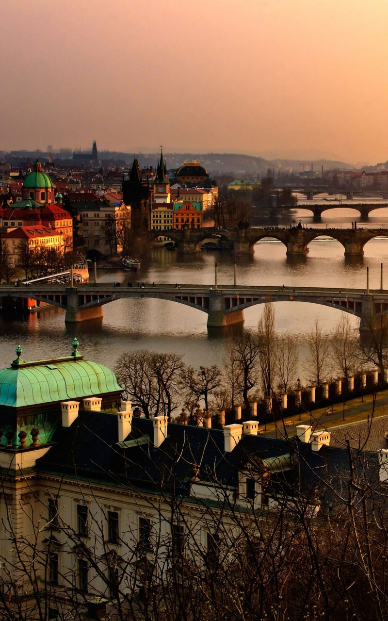 Vltava River in Prague Wallpaper for Amazon Kindle Fire HD