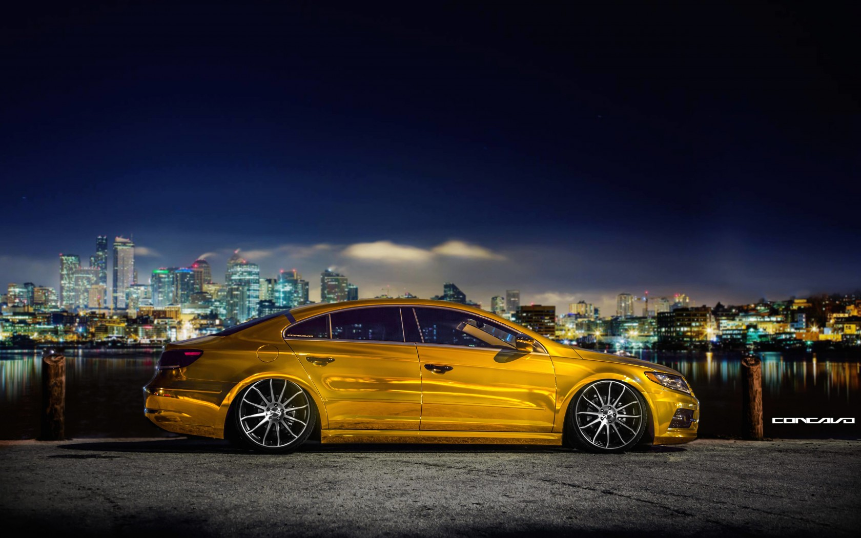 Volkswagen CC on CW-12 Concave Wheels Wallpaper for Desktop 1680x1050