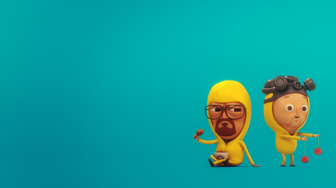 Walt & Jesse from Breaking Bad Wallpaper for Desktop 1366x768