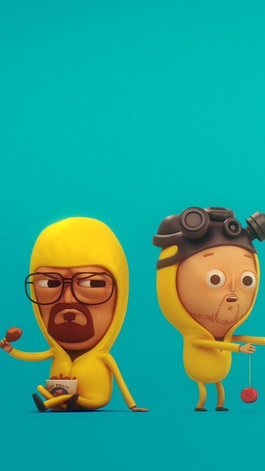 Walt & Jesse from Breaking Bad Wallpaper for SAMSUNG Galaxy S4 Mini