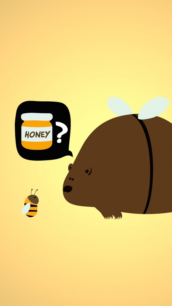 When a Bear Meet a Bee Wallpaper for Motorola Droid Razr HD