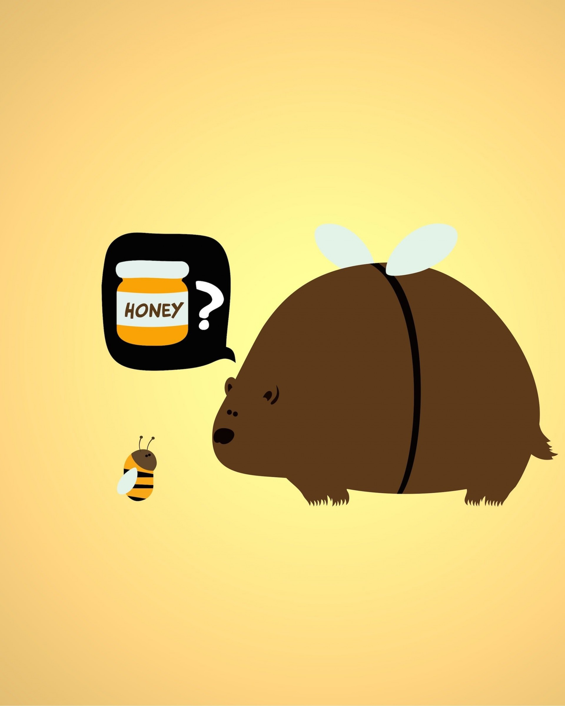 When a Bear Meet a Bee Wallpaper for Google Nexus 7
