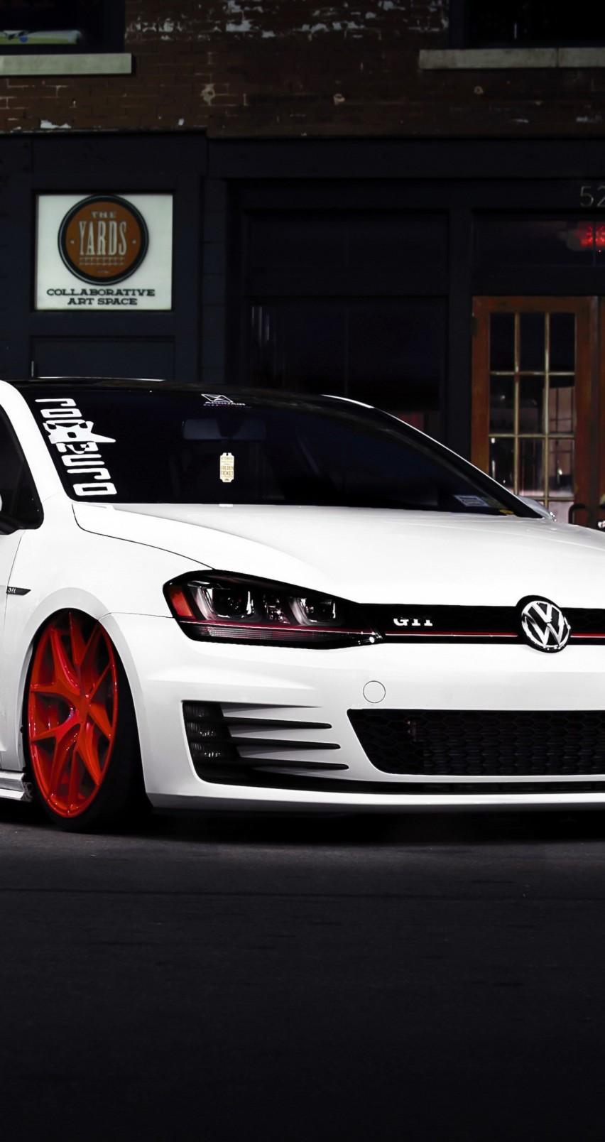 White Volkswagen Golf GTI Wallpaper For Apple IPhone 6Gti Iphone