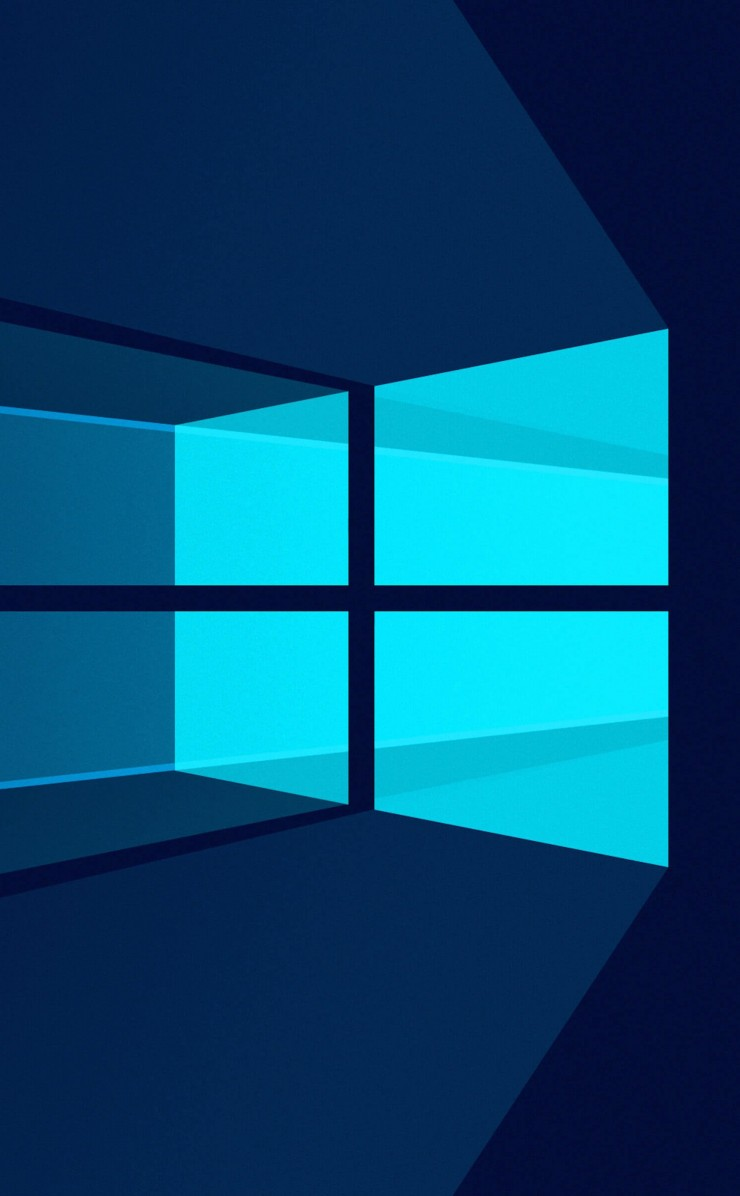 Windows 10 Flat Wallpaper for Apple iPhone 4 / 4s