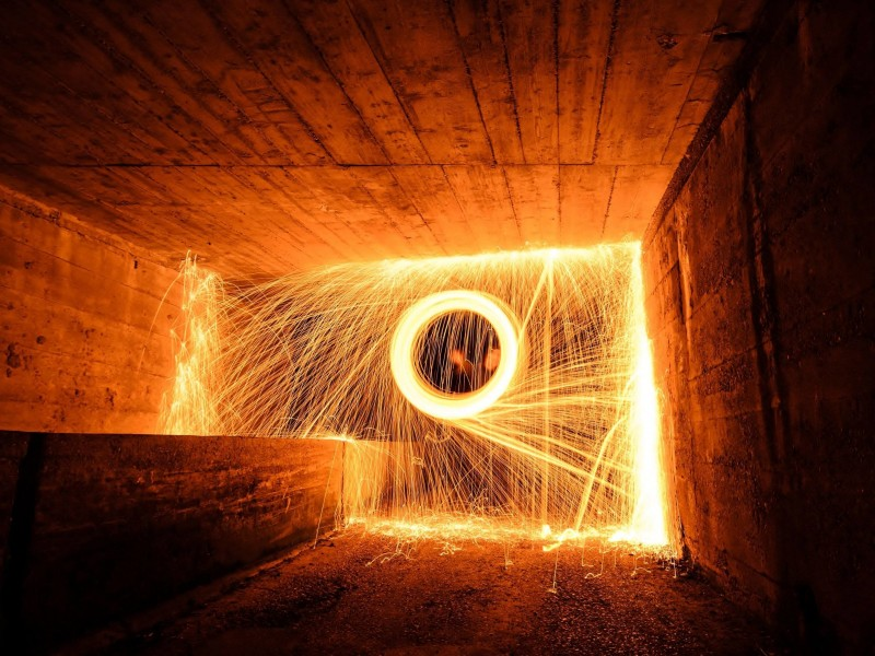 Wire Wool Long Exposure Wallpaper for Desktop 800x600