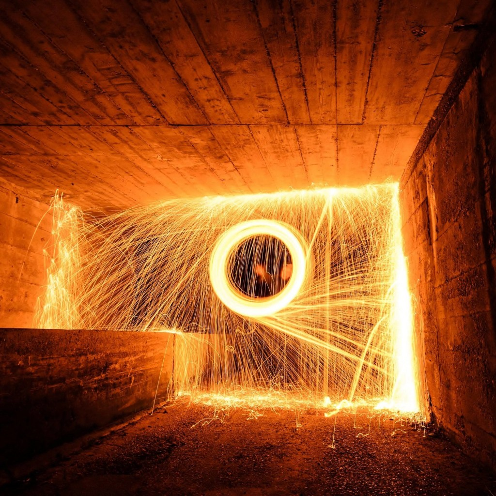 Wire Wool Long Exposure Wallpaper for Apple iPad