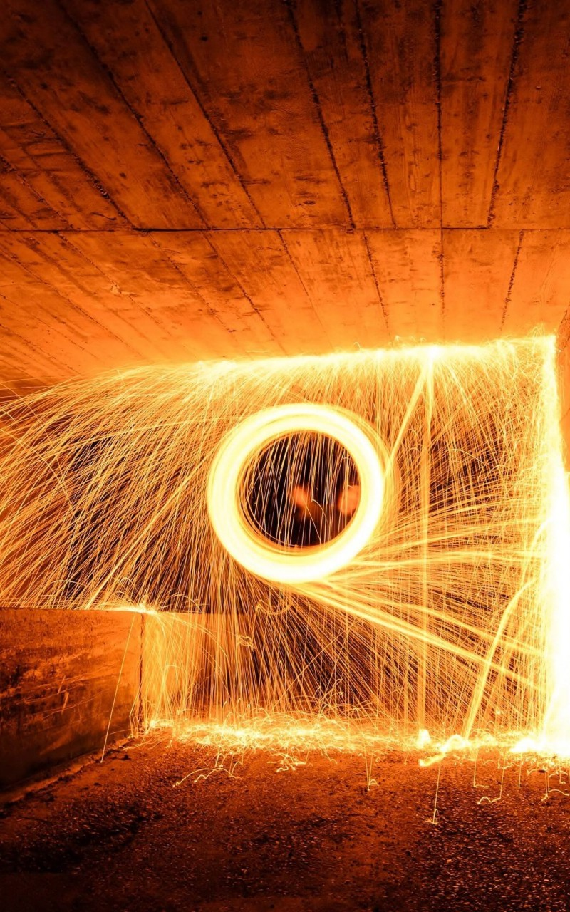 Wire Wool Long Exposure Wallpaper for Amazon Kindle Fire HD