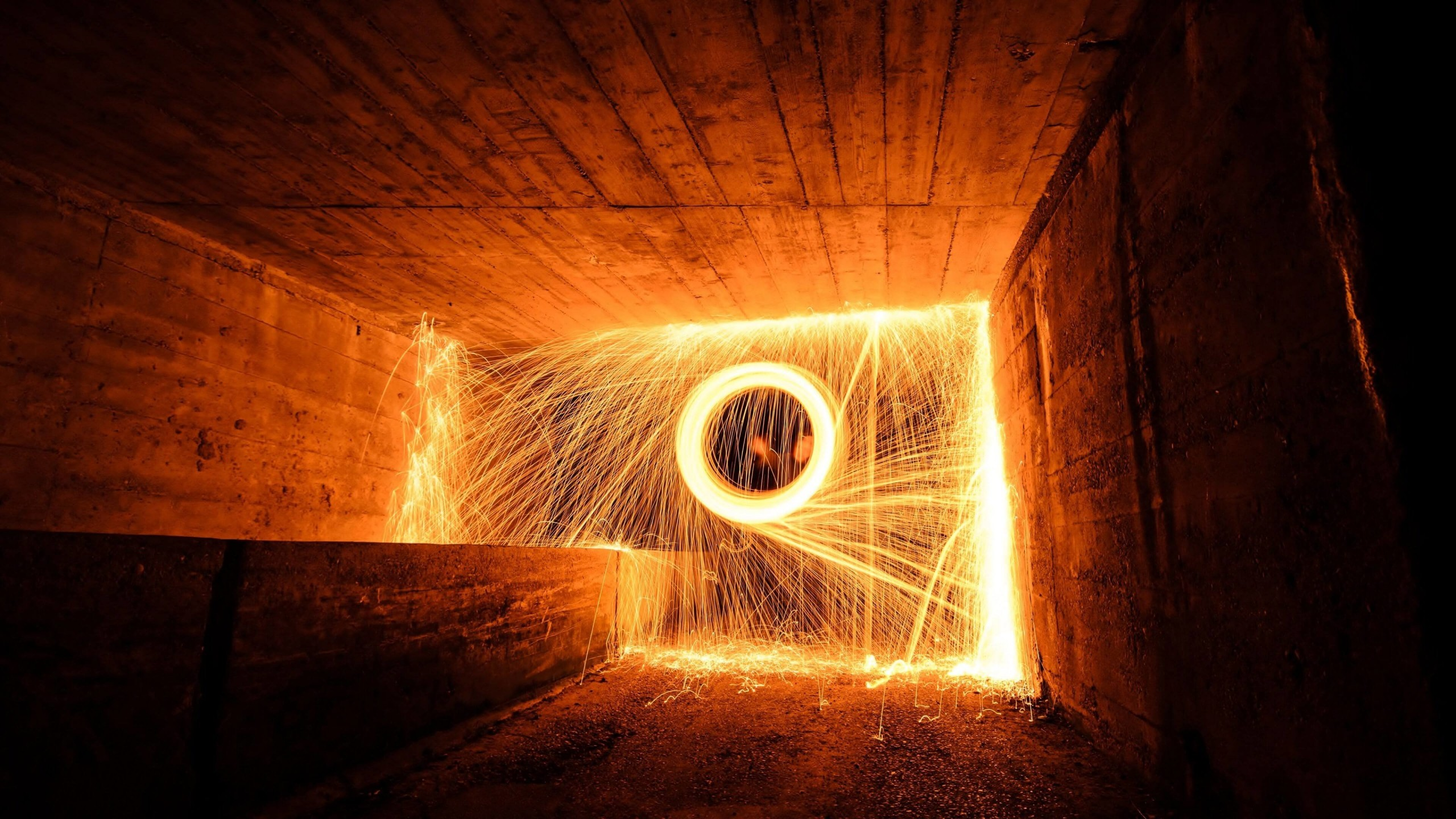 Wire Wool Long Exposure Wallpaper for Social Media YouTube Channel Art