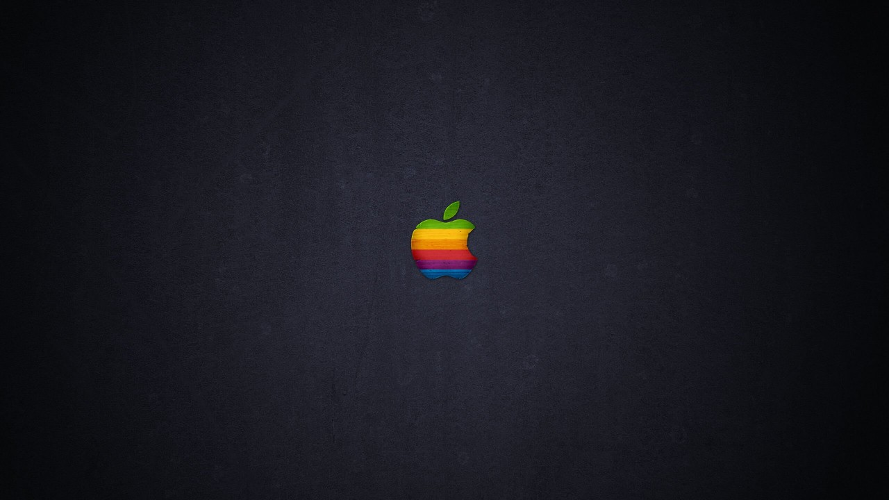 Wood Retro Apple Wallpaper for Desktop 1280x720
