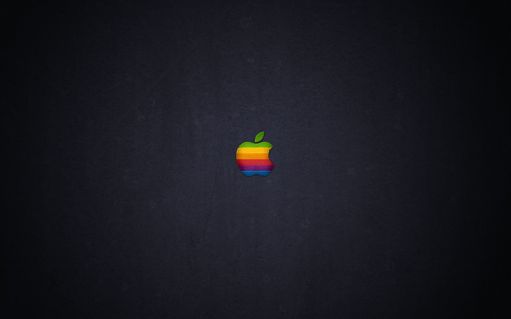Wood Retro Apple Wallpaper for Desktop 1680x1050