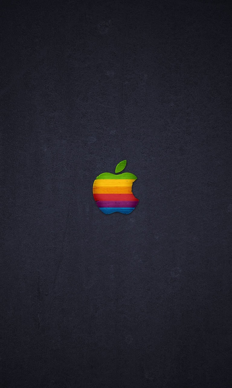 Wood Retro Apple Wallpaper for Google Nexus 4