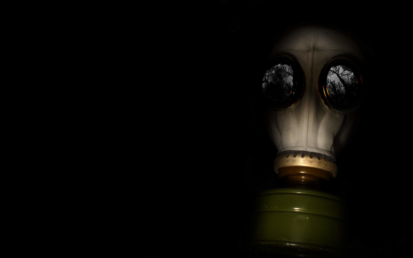 WWII Gas Mask Wallpaper for Desktop 1440x900