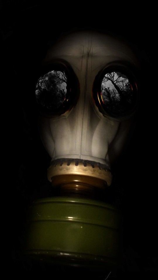 WWII Gas Mask Wallpaper for SAMSUNG Galaxy S4 Mini
