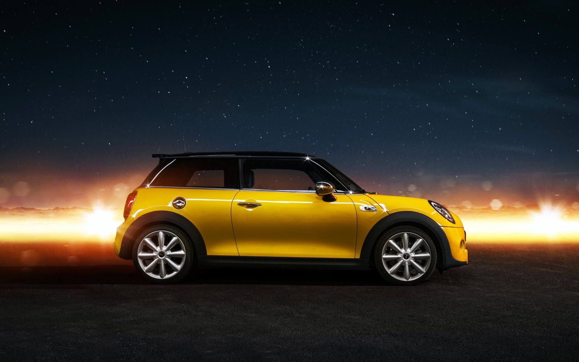 Yellow Mini Cooper S Wallpaper for Desktop 1920x1200