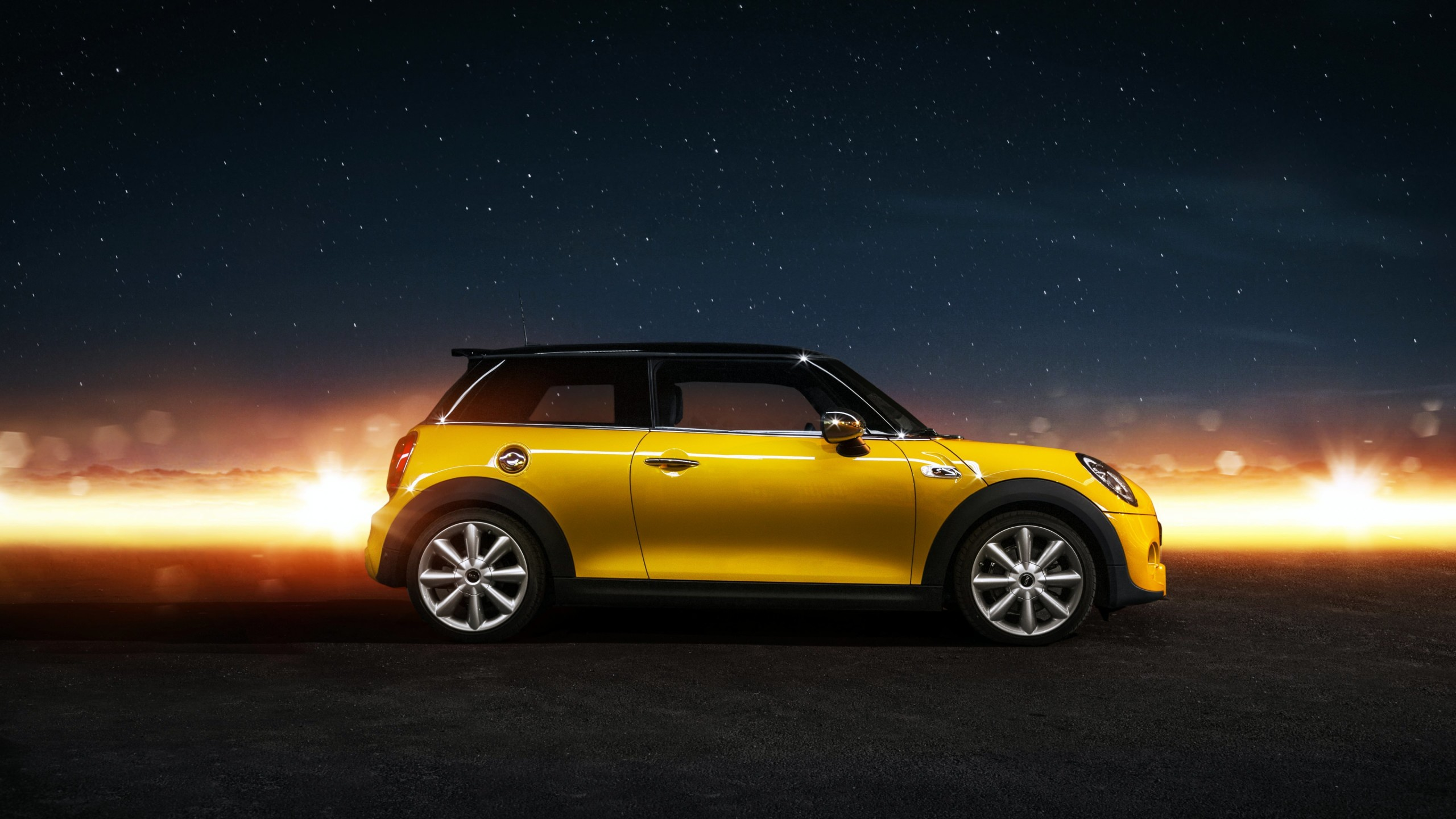 Yellow Mini Cooper S Wallpaper for Desktop 2560x1440