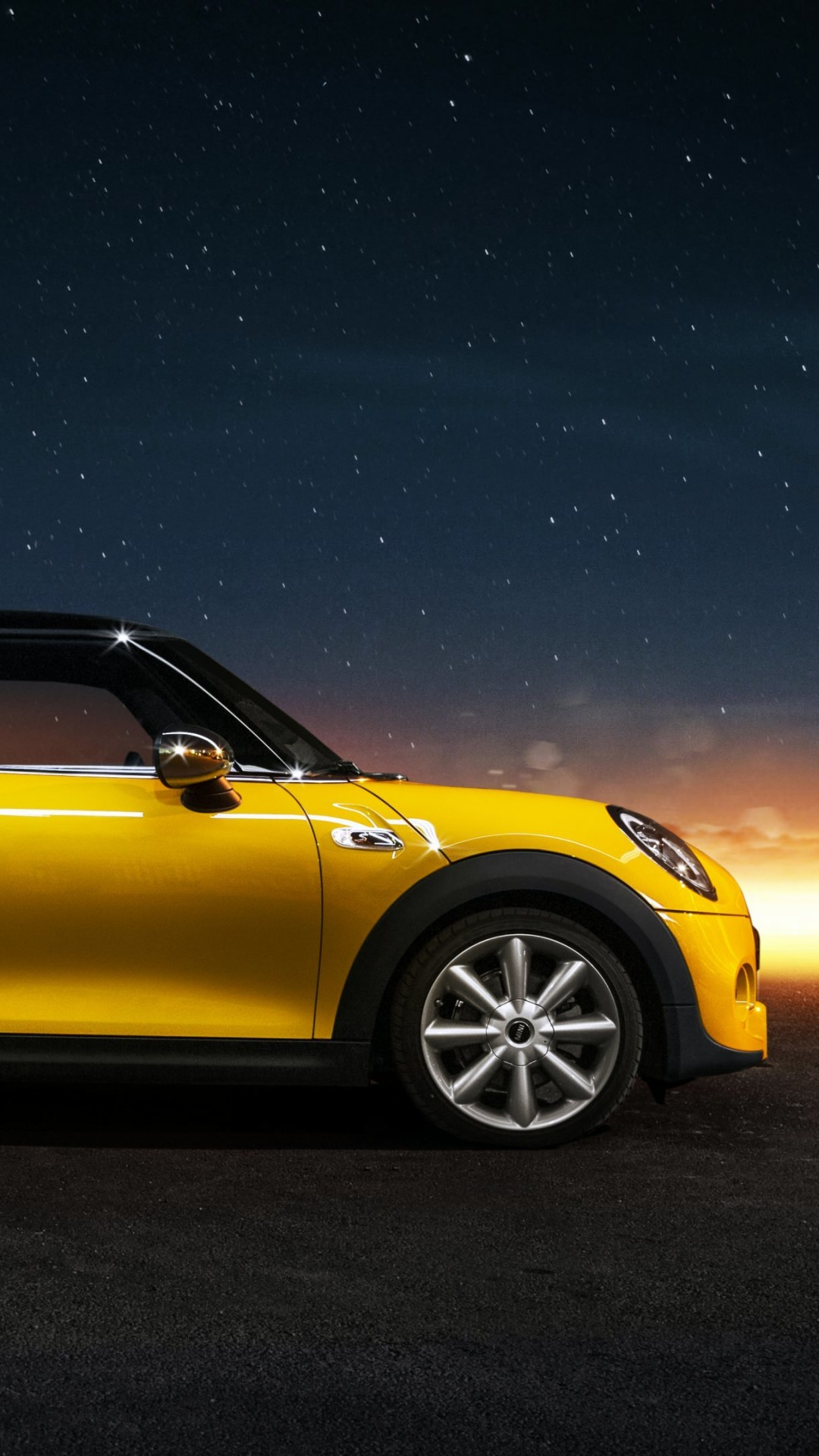Yellow Mini Cooper S Wallpaper for HTC One