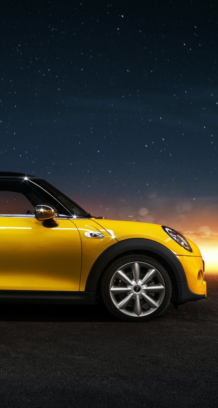 Yellow Mini Cooper S Wallpaper for Apple iPhone 5 / 5s