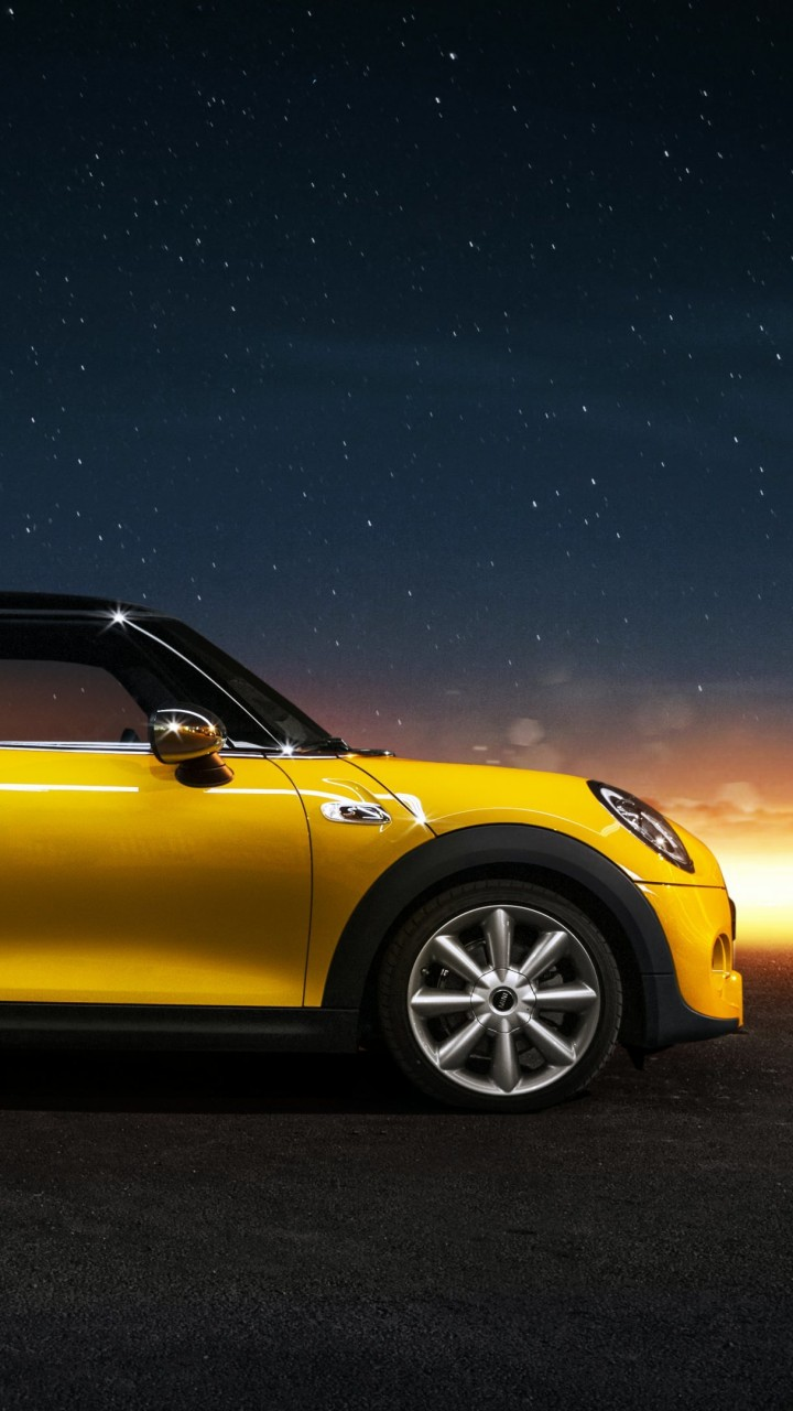 Yellow Mini Cooper S Wallpaper for Xiaomi Redmi 2